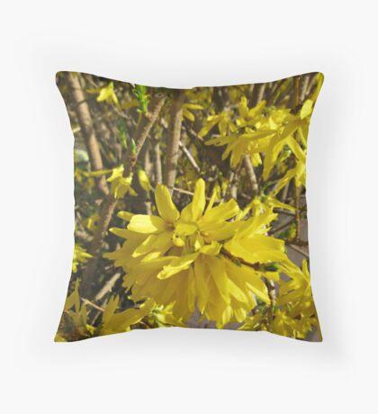 Goldene Forsythie-Blume Kissen