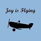 Joy is Flying Airplane Pilot Monotone by TinyStarAmerica