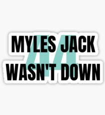 575f8119 Myles Jack Stickers | Redbubble