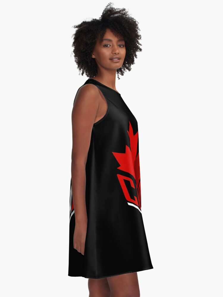 Alternate view of Canada maple leaf A-Line Dress