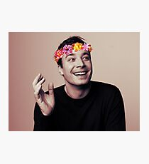 Jimmy Fallon- flower crown Photographic Print