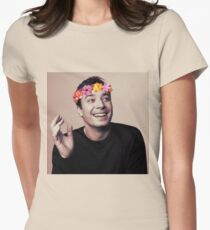 Jimmy Fallon- flower crown Womens Fitted T-Shirt