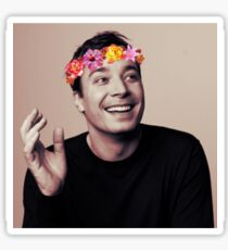 Jimmy Fallon- flower crown Sticker