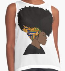 big afro Contrast Tank