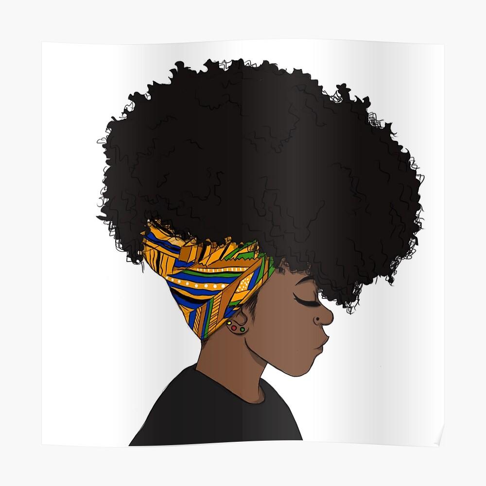 großer Afro Poster