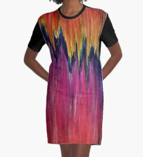 Pixel Sorting 48 Graphic T-Shirt Dress