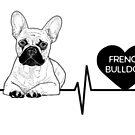 French Bulldog Love- Heartline by aheadgraphics