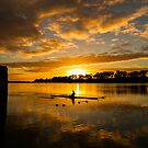 Sunrise rowing by Dave  Hartley