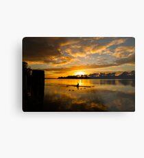 Sunrise rowing Metal Print