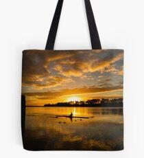 Sunrise rowing Tote Bag
