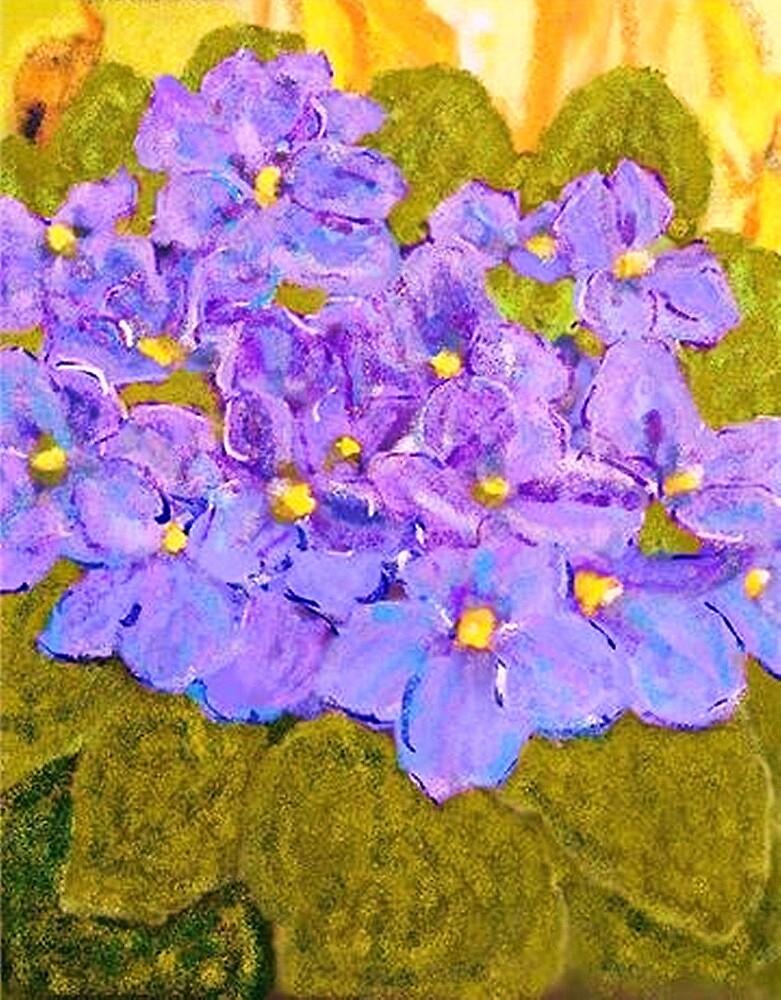 Violets of wonderment by Danusia