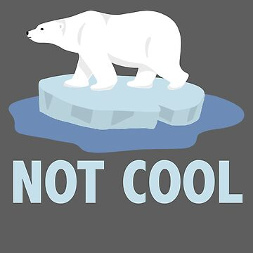 NOT COOL polar bear on ice by michellestam