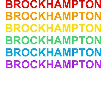 Rainbow Brockhampton Print by sophjade