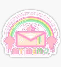 My Memo - Envelope Sticker  Sticker