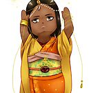 Chibi Aishwarya in Sari Inspired Kimono by a-ka-neArt