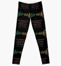 The Creation Of A Thousand Forests Is In One Acorn - Ralph Waldo Emerson Leggings