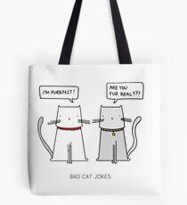 BAD CAT JOKES Tote Bag