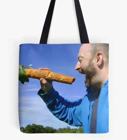 an unfeasibly large carrot Tote Bag