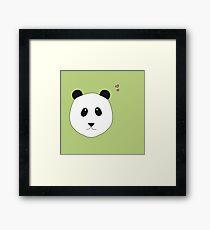 Pandalove in grün Gerahmter Kunstdruck
