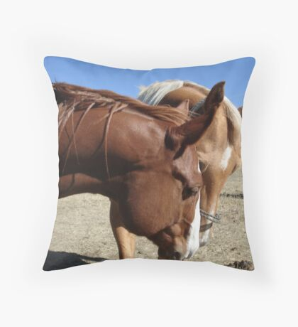 Do you think she has cookies? Throw Pillow