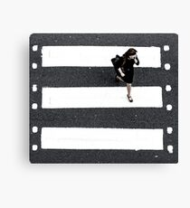 film crossing Canvas Print