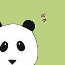 Pandalove in grün von Simone Abelmann
