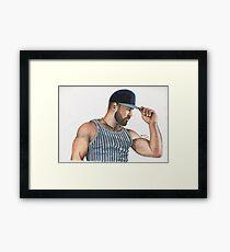 Baseball cap Framed Print
