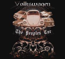 Volkswagen Tee Shirt: People's Car-Bronze by KombiNation