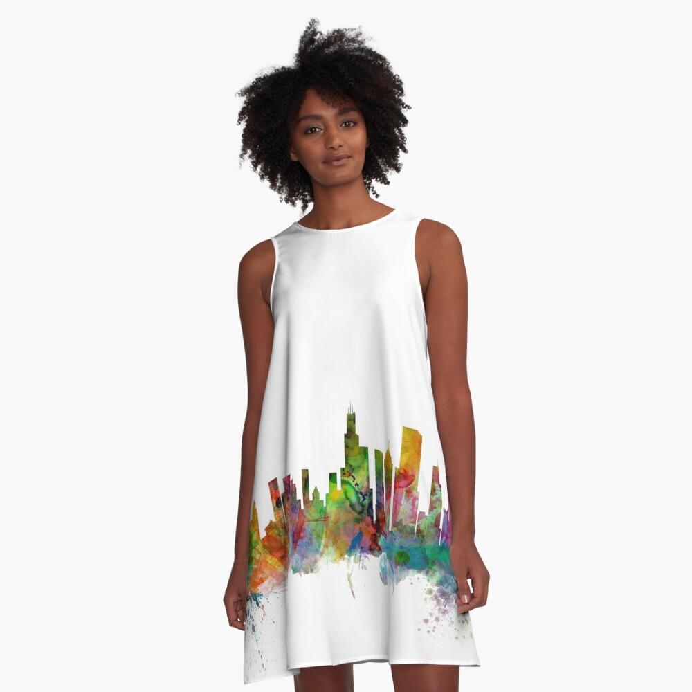 Chicago Illinois Skyline A-Linien Kleid