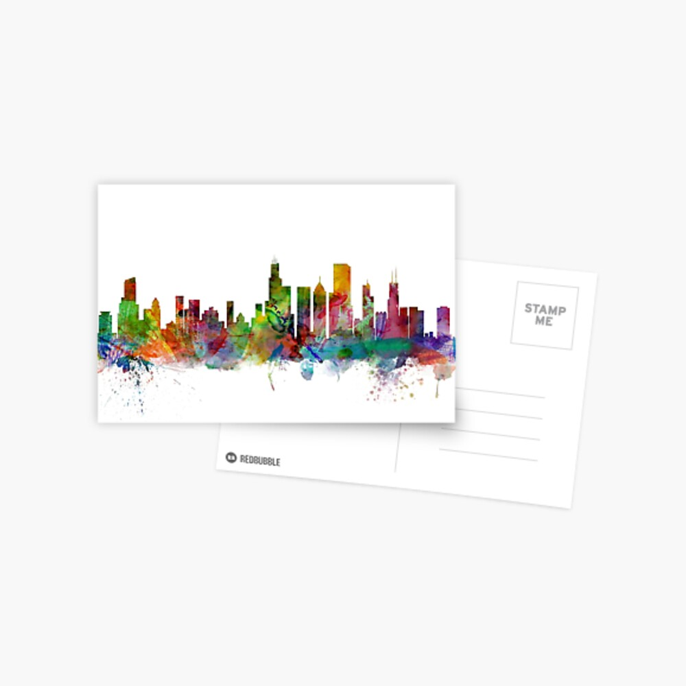Chicago Illinois Skyline Postal