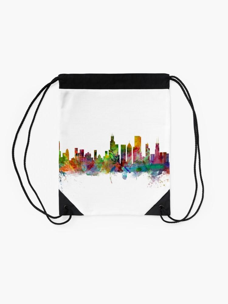 Alternative Ansicht von Chicago Illinois Skyline Turnbeutel