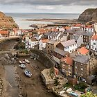 Staithes Village Panoramic  by Dave Hudspeth