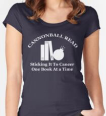Cannonball Read Logo in White Fitted Scoop T-Shirt