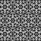 Black And White Floral Swirl Pattern by artsandsoul