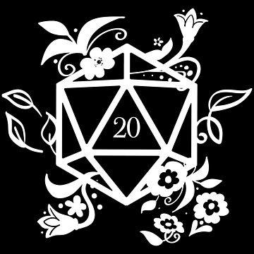 Polyhedral D20 Dice Druid's Plants and Flowers Dungeons Crawler and Dragons Slayer Tabletop RPG Addict by pixeptional