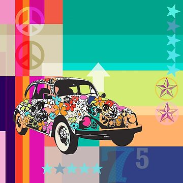 pop art abstract, hippy chic by Carolynne