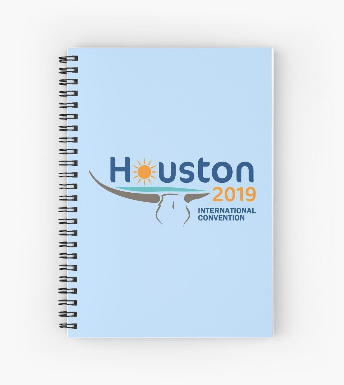 'Houston, Texas - 2019 International Convention' Spiral Notebook by JW Stuff
