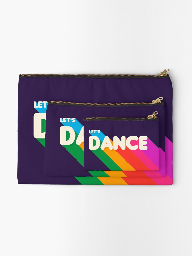 Alternate view of Rainbow dance typography Zipper Pouch