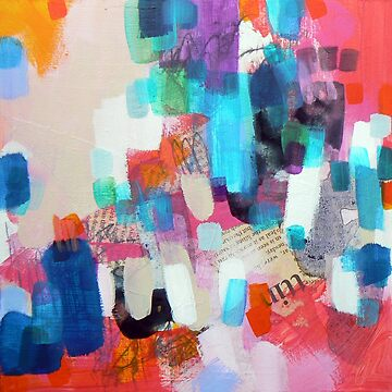 abstract painting - red collage by Carolynne