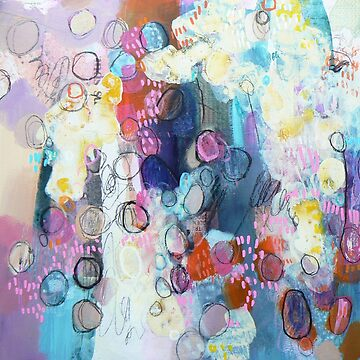 abstract painting and collage  by Carolynne