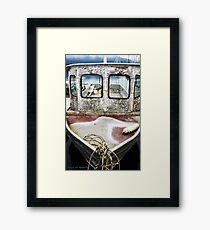 Weathered Vessel Framed Print