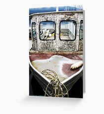 Weathered Vessel Greeting Card