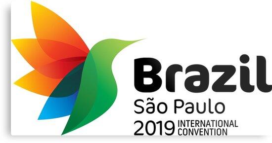 'São Paulo, Brazil - 2019 International Convention' Metal Print by JW Stuff