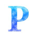 Letter P - Blue by gaman