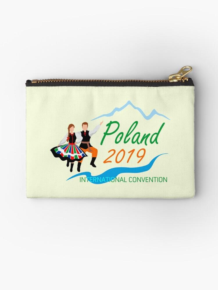 'Warsaw, Poland - 2019 International Convention' Zipper Pouch by JW Stuff