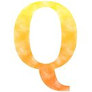 Letter Q - Yellow and orange by gaman