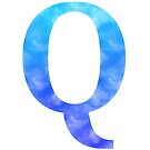 Letter Q - Blue by gaman