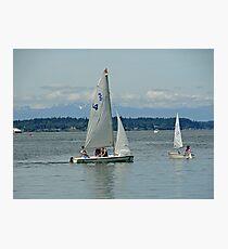 South Puget Sound Sailing Photographic Print