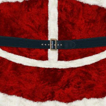 Christmas Santa Costume Cosplay - Fluffy Red and White with Belt and Buckle by ThisOnAShirt
