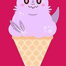 Ice Cream Dragon Purple von Big-Pasach